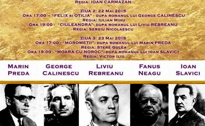 "Festivalul de Film Românesc ""Mari Scriitori, Mari Ecranizări"" – Chisinau 2015"